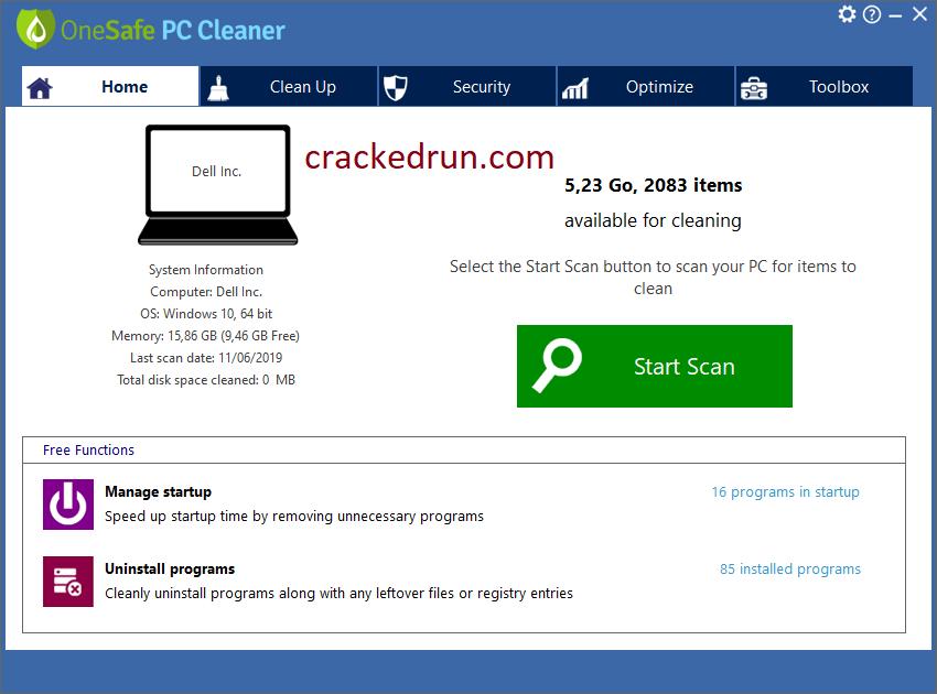 OneSafe PC Cleaner Pro Crack 8.0.0.7 + Keygen Free Download 2021